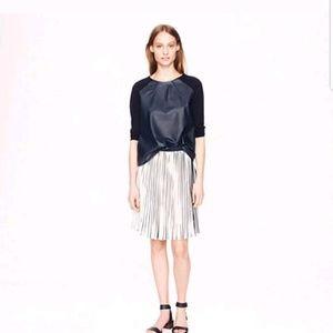 NWOT JCrew sunburst pleated skirt